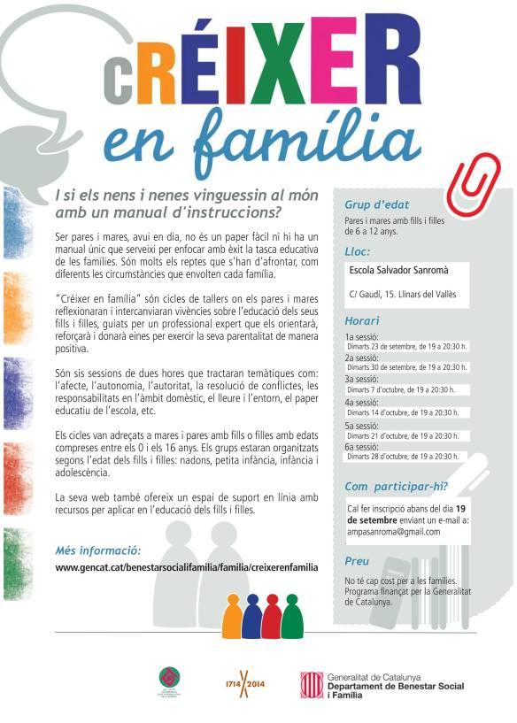 Poster Créixer en Família Salvador Sanroma